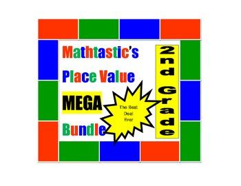 Mathtastic's 2nd Grade Place Value Games MEGA Bundle for Common Core
