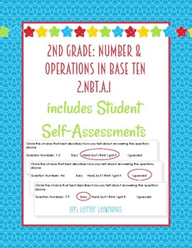 2nd Grade - Place Value (Hundreds, Tens and Ones) - with Student Self-Eval