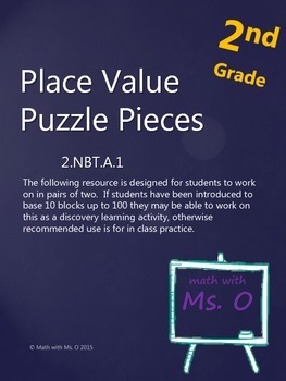 2nd Grade Place Value Matching Puzzle Activity