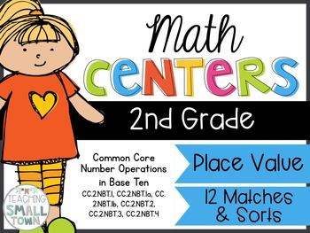 2nd Grade Place Value Math Centers- Common Core Aligned