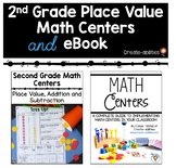 2nd Grade Place Value Math Centers and eBook BUNDLE