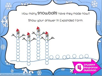 Introduce Place Value and Expanded Form {Winter Theme}