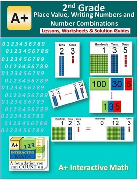 2nd Grade Place Value Number Combinations Lessons, Worksheets, Solution Manuals