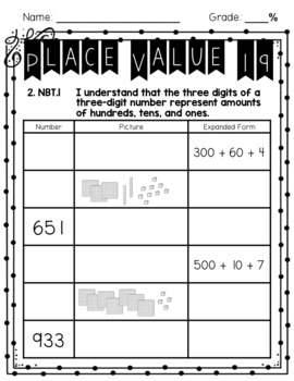 2nd Grade Place Value Practice