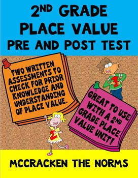 2nd Grade Place Value Pre and Post Test