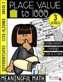 Second Grade Place Value Unit | CCSS Differentiated Worksheets & Centers