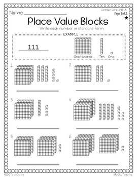 Differentiated 2nd Grade Place Value Strategy Worksheets