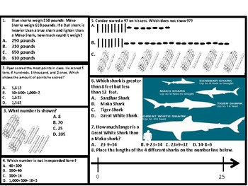 2nd Grade Place Value Worksheet Bundle