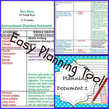 2nd Grade TEKS Planning