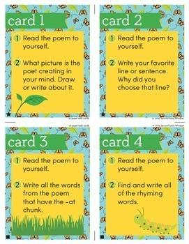 Poetry • 2nd Grade Chunk Spelling Word Family Poem of the Week • Fluency Poems