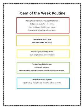 2nd Grade Poem of the week
