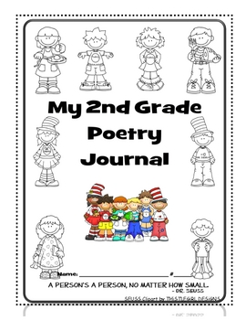 2nd grade poetry journal co by just 4 teachers teachers pay teachers. Black Bedroom Furniture Sets. Home Design Ideas