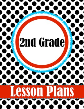 2nd Grade Polk-a-dot Lesson Plan Set - Binder Cover, Daily & Weekly Lesson Plan
