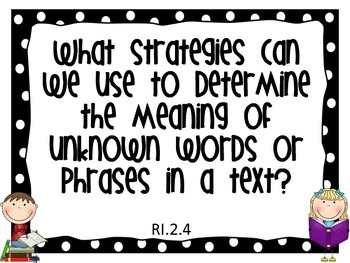 2nd Grade Polka Dot Common Core Essential Questions