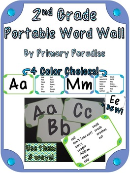 Word Wall for 2nd Grade: Portable {In 4 Colors!}