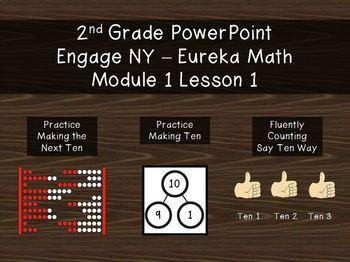 2nd Grade PowerPoint EngageNY - Eureka Math Module 1 Lesson 1