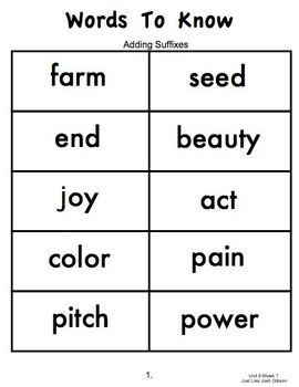 2nd Grade, Practice Station Words to Know, Unit 6, Reading Street, c. c. ed.