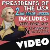 2nd Grade Presidents Day Activities & Worksheets with Video