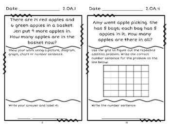 2nd Grade Common Core Problem Solving Journal: At Standard Version