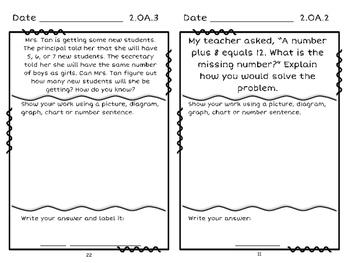 2nd Grade Problem Solving Journal: Approaching Standard Version