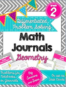 2nd Grade Problem Solving Math Journal - Geometry (Differentiated and CCSS)
