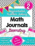 2nd Grade Problem Solving Math Journal - Geometry (Differe