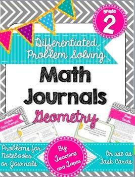 2nd Grade Problem Solving Math Journal - Geometry (Differe