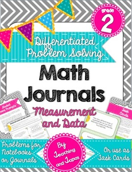 2nd Grade Problem Solving Math Journal - Measurement and Data (Differentiated)