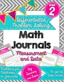 2nd Grade Problem Solving Math Journal - Measurement and D