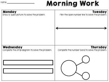 2nd Grade Problem Solving Morning Work