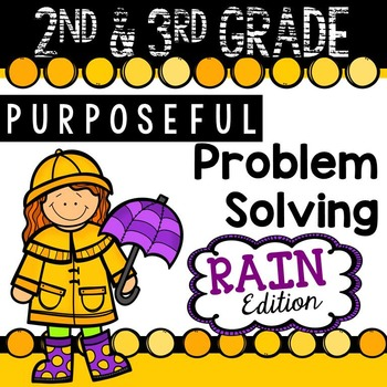 2nd & 3rd Grade Problem Solving: Rain Edition
