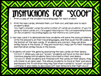 2nd Grade Problem Solving Task Cards {with QR Codes}