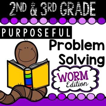 2nd & 3rd Grade Problem Solving: Worm Edition A FREEBIE Sampler Set