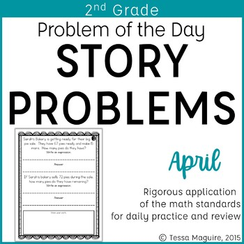 2nd Grade Problem of the Day Story Problems- April