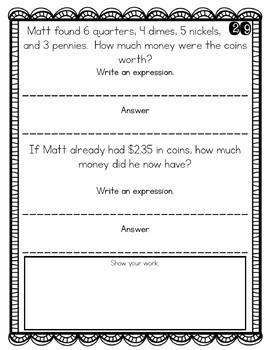2nd Grade Word Problem of the Day Story Problems- Bundle
