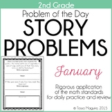2nd Grade Problem of the Day Story Problems- January