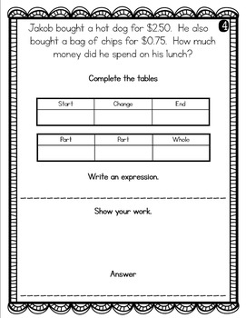 2nd Grade Problem of the Day Story Problems- November