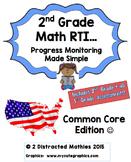 2nd Grade Progress Monitoring Pack:  Common Core Edition