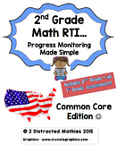 2nd Grade Progress Monitoring Pack:  Common Core Edition