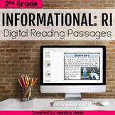 2nd Grade RI Informational Digital Passages- Digital RI & RL Google Slides