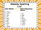2nd Grade Spelling Lists Units 1-8 Reach for Reading