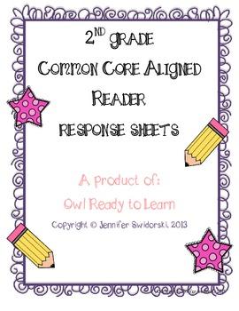 Reader's Response FULL SET - Common Core Aligned (Grade 2)