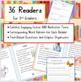 2nd Grade Readers with Text-Dependent Questions and Graphi