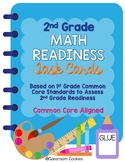 2nd Grade Readiness Math Task Cards (Common Core Aligned)