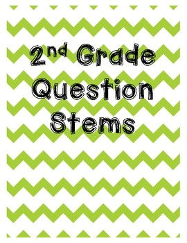 2nd Grade Reading 3D Question Stem Bookmarks