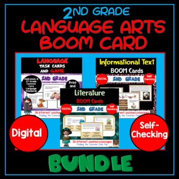 2nd Grade Reading Boom Card Bundle