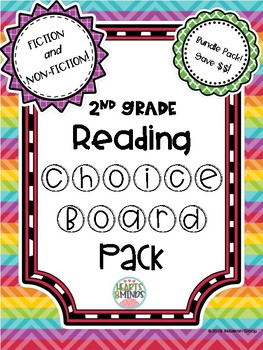 2nd Grade Reading Choice Boards Bundle - FICTION AND NON-FICTION!