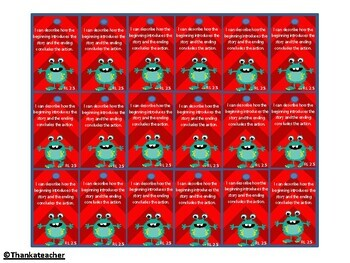2nd Grade Reading Common Core Brag Tags
