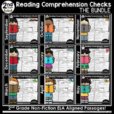 2nd Grade Reading Comprehension Checks The Bundle