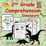 2nd Grade Reading Comprehension - Dinosaurs - 3 Levels - C
